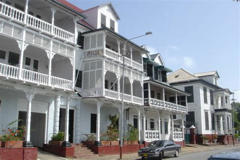 Dutch Colonial House Style historic inner city of paramaribo unesco world heritage