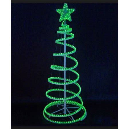 5 foot spiral rope light christmas tree flashing 6 green led lighted outdoor spiral rope light tree yard decoration walmart