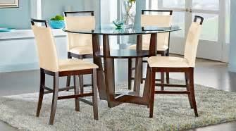 Counter Height Dining Room Sets Ciara Espresso 5 Pc Counter Height Dining Set Dining
