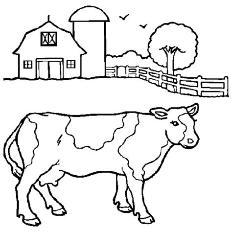 Dairy Cow Coloring Page | dairy cow coloring pages az coloring pages