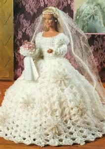 Beautiful fashion doll wedding dress crochet pattern instructions