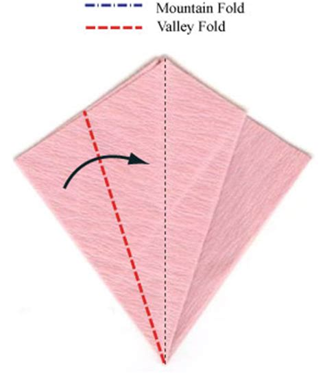 What Is A Valley Fold In Origami - how to make an origami vinca flower page 7