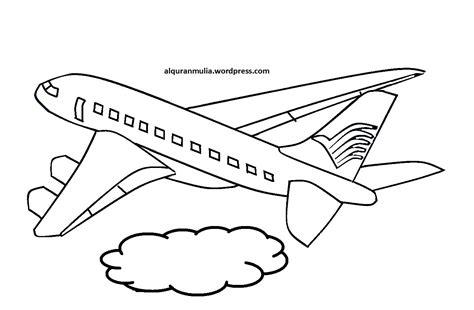 10 gambar mewarnai pesawat