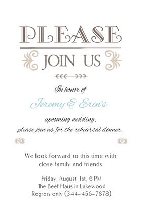 dinner invitation templates free free rehearsal dinner invitation template cimvitation