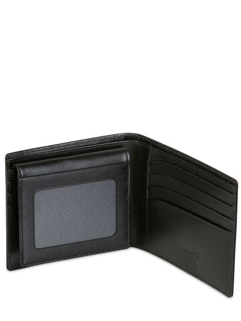 Walet 2 In 2 montblanc meisterstuck 11cc leather wallet in black for lyst