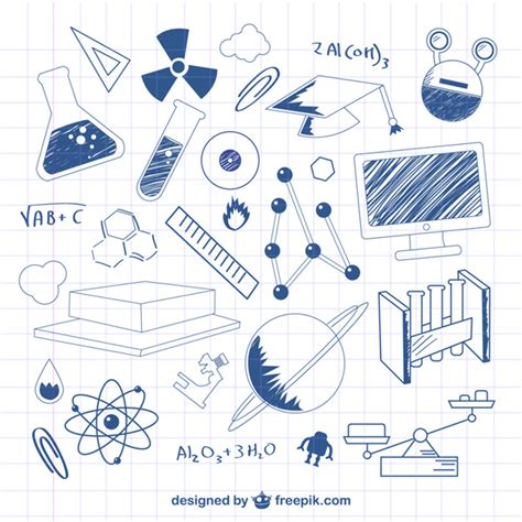 free doodle vectors science doodle vector illustration free vector
