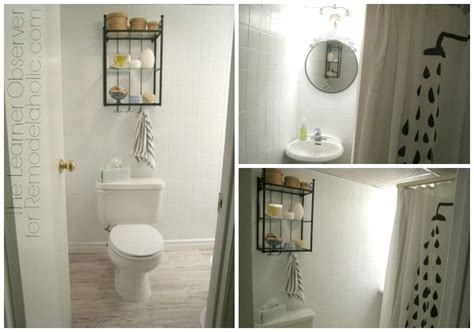bathroom tile makeover remodelaholic a 170 bathroom makeover with painted tile