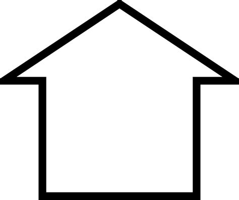 house outline outline of a house clipart best