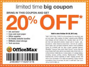 officemax coupon 20 entire purchase in store and
