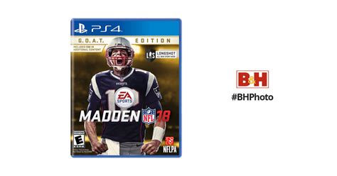 Kaset Ps4 Madden Nfl 18 electronic arts madden nfl 18 g o a t edition ps4 73808 b h