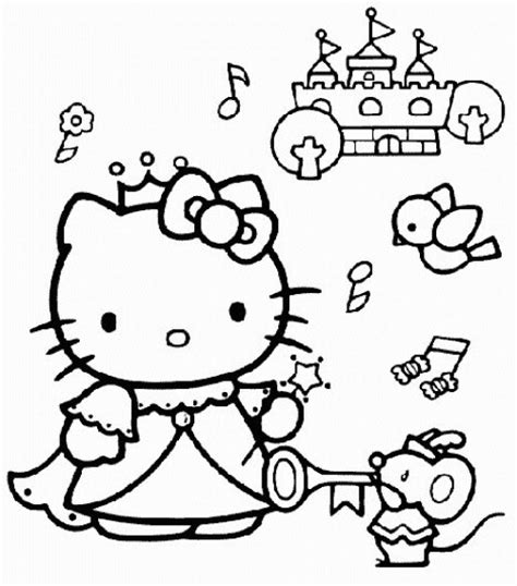 hello kitty fairy coloring page princess coloring pages