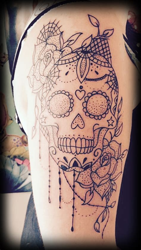 unique skull tattoos sugar skull unique design by christel friis