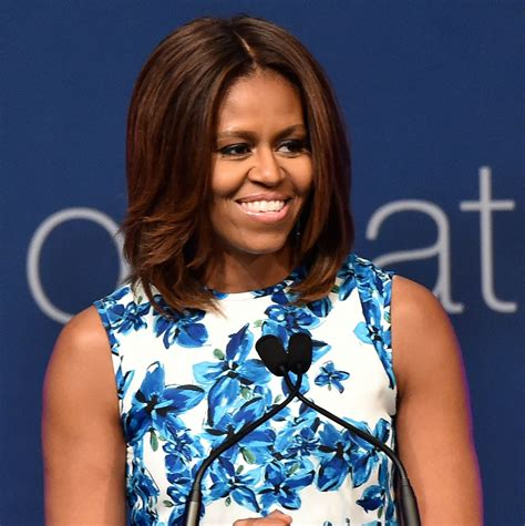mrs obama hair products michelle obama s lighter hair color glamour