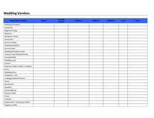 Vendor List Template by Pin Book Acknowledgement Template On