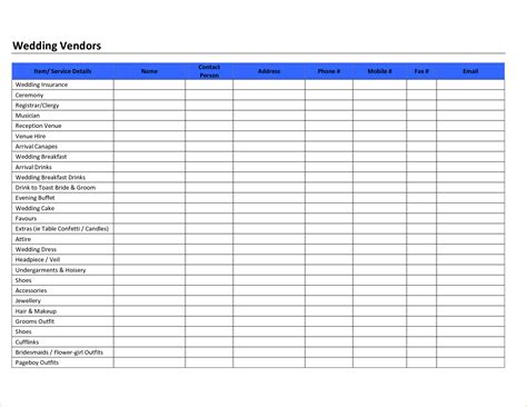 preferred vendor list template pin book acknowledgement template on