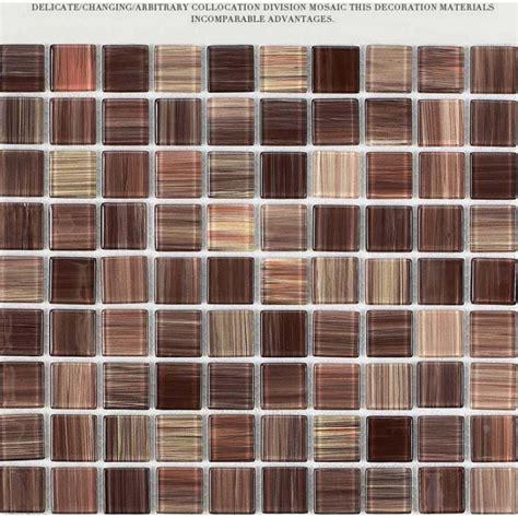 Wholesale crystal glass tile backsplash kitchen ideas hand painted brown mosaic wall tiles