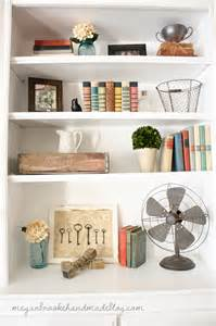 How To Style Bookshelves How To Decorate Style Bookshelves Megan Handmade