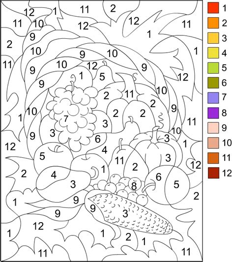 fall coloring pages color by number free coloring pages color by number thanksgiving
