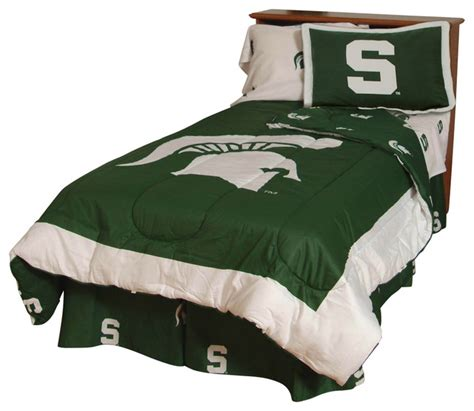 michigan state bedding college covers michigan state spartans bed in a bag twin