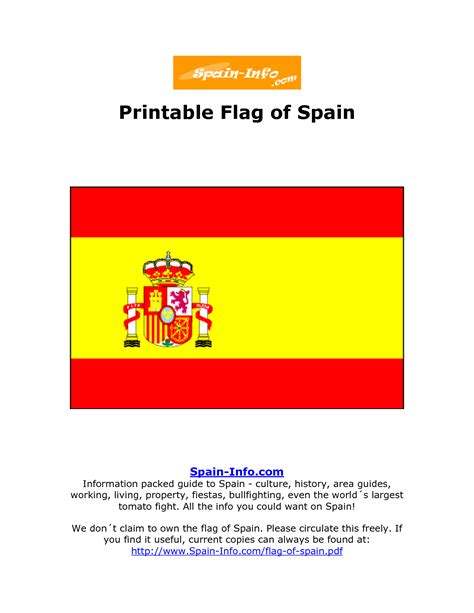 7 Best Images Of Printable Flag Of Spain Spain Flag Printable Spain Flag