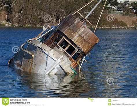 sunken boat old sunken boat stock photo image 51052970