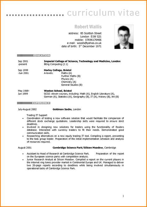 curriculum vitae sle format word 7 cv model penn working papers