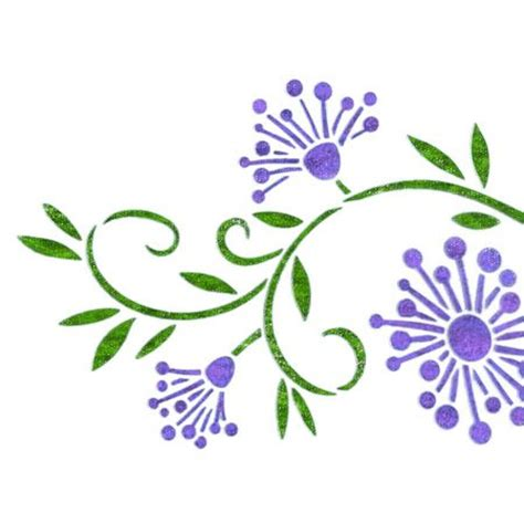 printable wall stencils flower 18 best images about stencils on pinterest