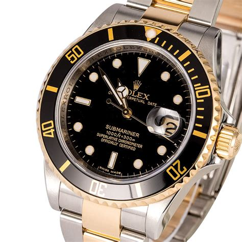 Rolex Oyster Submariner 2 certified rolex submariner 16613 two tone oyster
