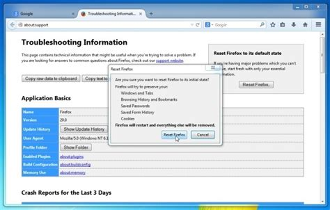 reset all firefox printer settings how to remove astromenda search virus removal guide