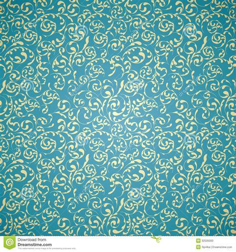 blue pattern vintage background damask seamless pattern stock vector image of ornate