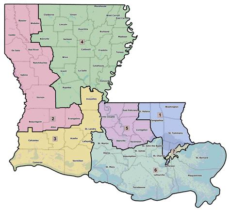 louisiana district map louisiana voting districts map afputra
