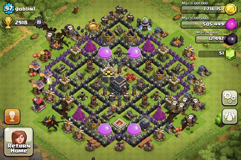 layout coc level 21 top 10 clash of clans town hall level 9 defense base