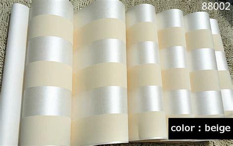 Gelang Simple Beigebrown 10m roll modern simple style 3d stripe wallpaper bright