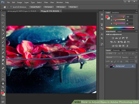 photoshop cs4 how to adjust hues in adobe photoshop cs4 13 steps