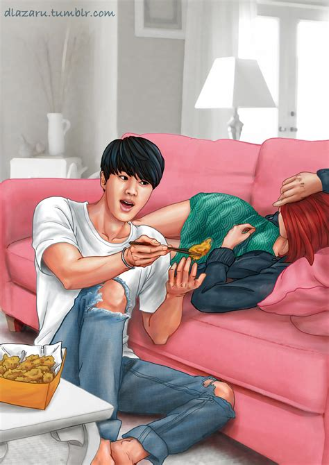bts girlfriend jin bangtan bts by dlazaru on deviantart