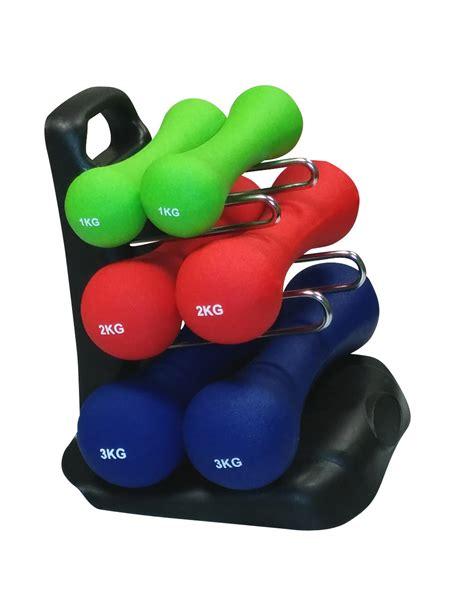 Dempul Sanpolac 1 4 Kg gymnastik hantelset 12 kg 2 x 3 kg 2 x 2 kg 2 x 1 kg