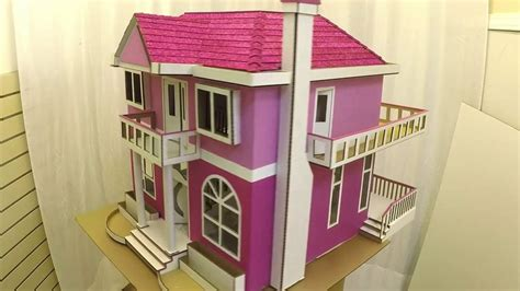 cardboard box house designs cardboard box made into dollhouse with lights time lapse youtube