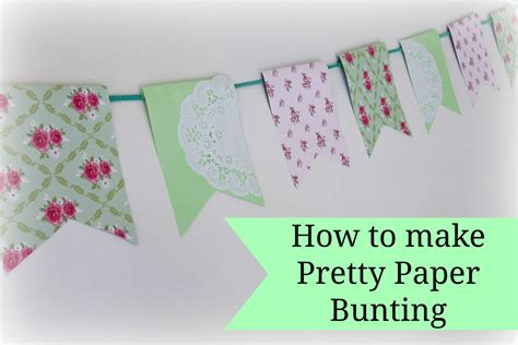 Paper How To Make - easy paper bunting tutorial