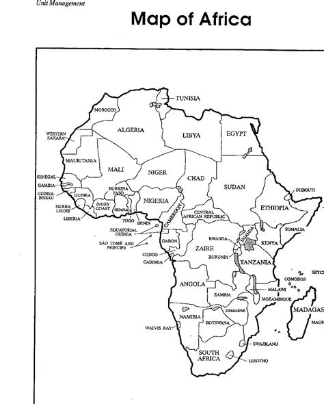 africa map with country label coloring pages education