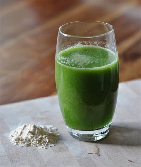high protein green juice recipe popsugar fitness uk