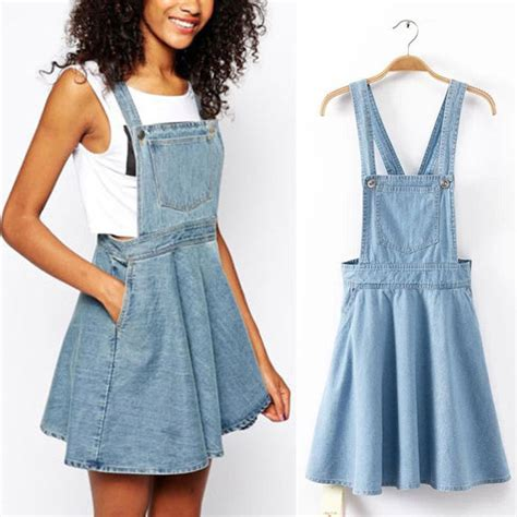 vintage washed casual blue denim overall jumper