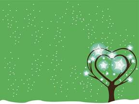 green tree snow powerpoint ppt backgrounds christmas