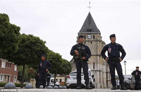 There was still a heavy police presence in the town of saint etienne