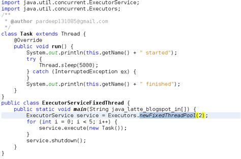 tutorial java executor java latte executor executorservice threadpool