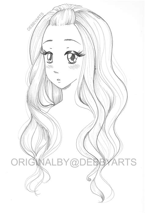 doodle free hair hair colouring drawing free by debbyarts on