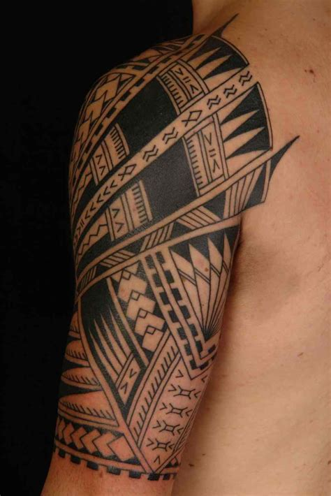 hawaiian tribal tattoos sleeves draw a tribal design a polynesian half