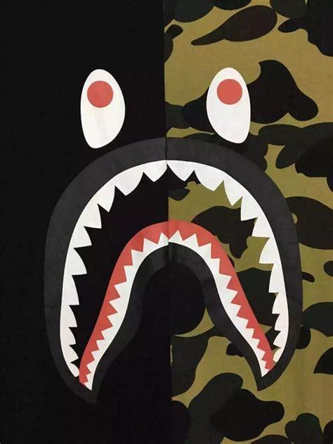 Bape Big Logo By Bathing Ape Camo bape shark background related keywords bape shark background keywords keywordsking