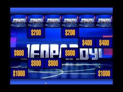 Free Jeopardy Template With Sound by Powerpoint Jeopardy Template With Sound Jeopardy