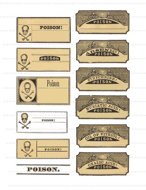 printable poison labels poison bottle labels halloween print out pinterest