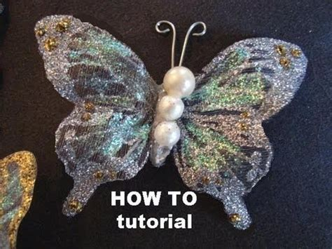 How To Make A 3d Butterfly Out Of Paper - glittered butterflies on fabric tutorial how to diy
